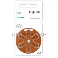 Батарейка Varta Signia для слухового аппарата, размер 312