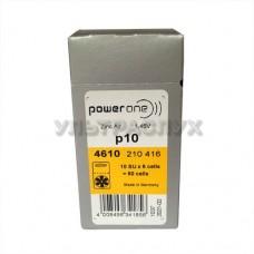 Батарейки Powerone для слухового аппарата, тип 10