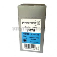 Батарейки Powerone для слухового аппарата, тип 675