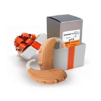 При покупке слуховых аппаратов Resound VEA по акции 10 блистеров батареек PowerOne в подарок!
